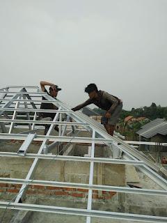 menghitung kebutuhan baja ringan atap jurai luas volume bajaringan by abditrass canopy