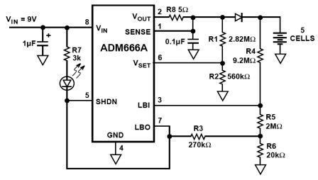 Micropower Linear Voltage Regulator in the Battery Charger Circuit