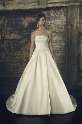 Sarah Nouri strapless Ball Gown Bridal Dress