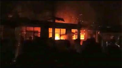 Enam Bangunan Ponpes Nurul Iman Sitiung Ludes Terbakar, Kerugian Ditaksir Ratusan Juta