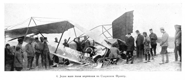 One of our fallen aeroplanes at the Salonica front