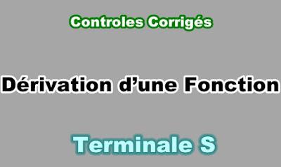 Controles Corrigés de Dérivation d'une Fonction Terminale S PDF