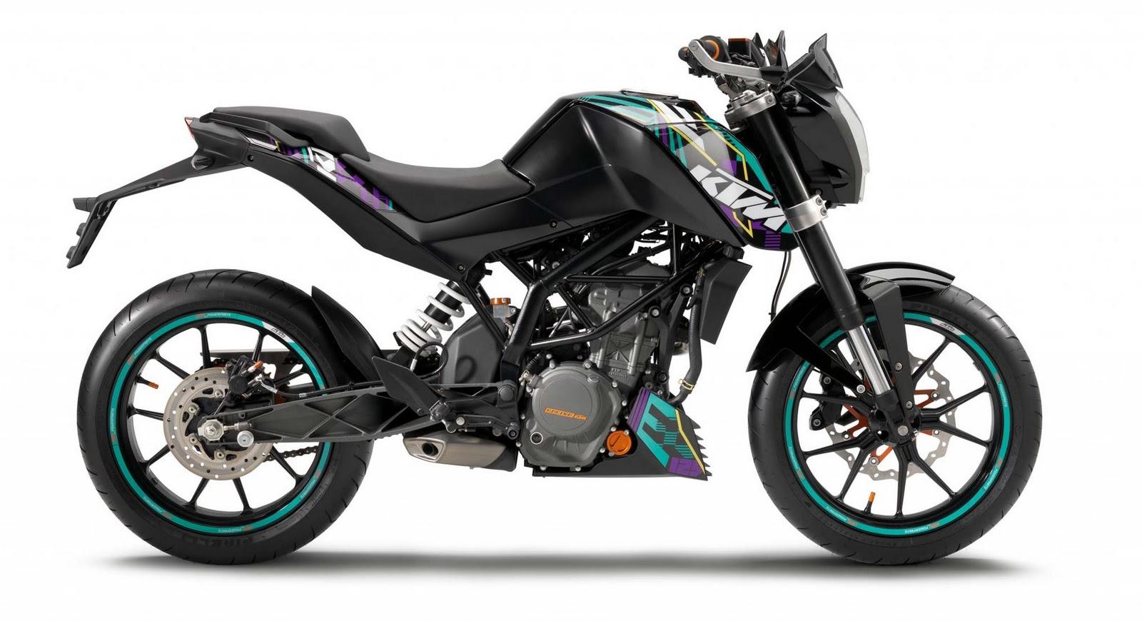 latest bike: bajaj duke ktm bike picture with all available colors