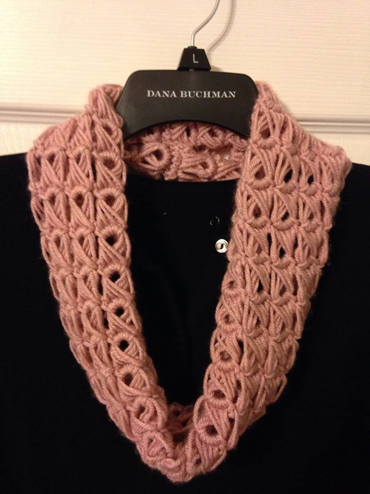 how to make a broomstick lace scarf