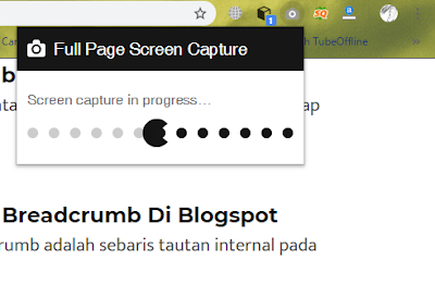 full page screenshoot proses