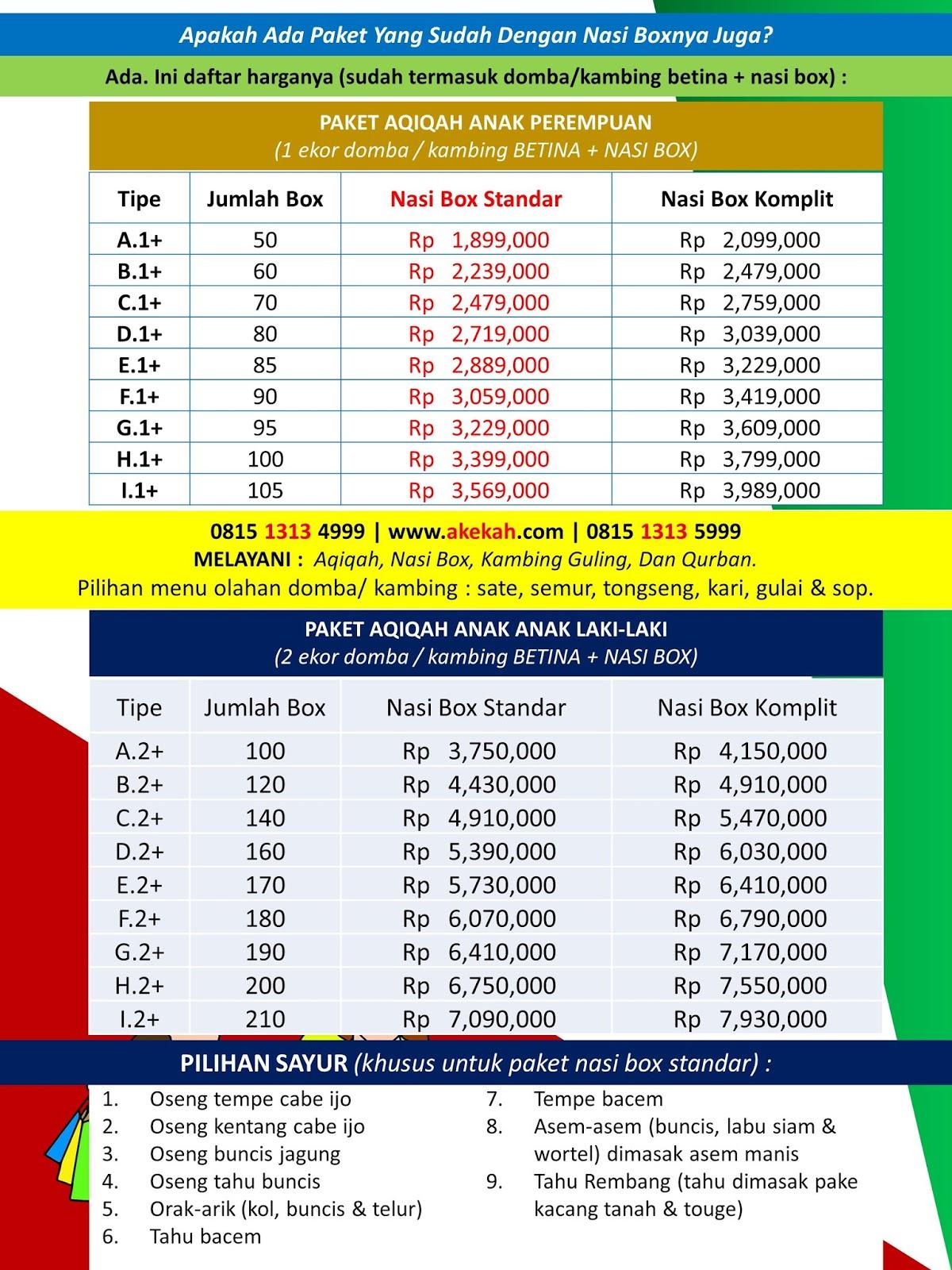 Harga Akikah Dan Catering Untuk Anak Laki-Laki Kecamatan Rumpin Kabupaten Bogor Jawa Barat