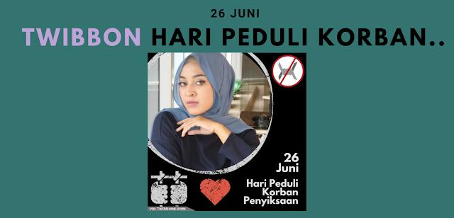 Gambar Twibbon Hari Peduli Korban Penyiksaan Internasional 26 Juni