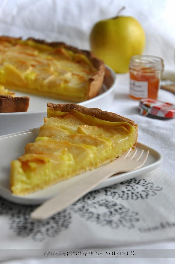 Due bionde in cucina crostata di mele con crema pasticcera for Crostata di mele