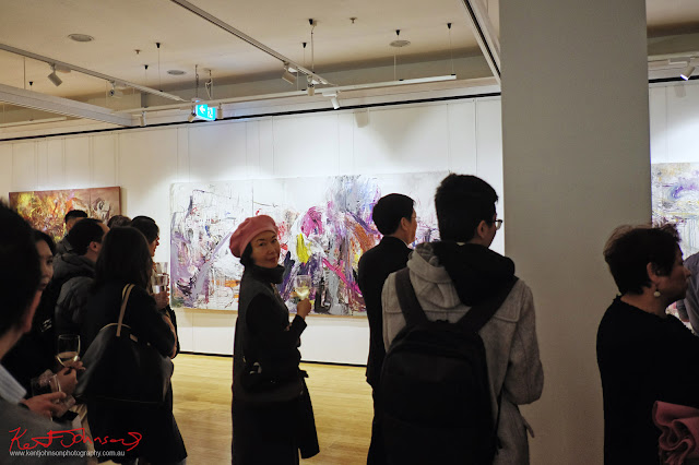 Art crowd - Beyond the Light - Chinese Artist He Zige - Photos By Kent Johnson for Street Fashion Sydney.