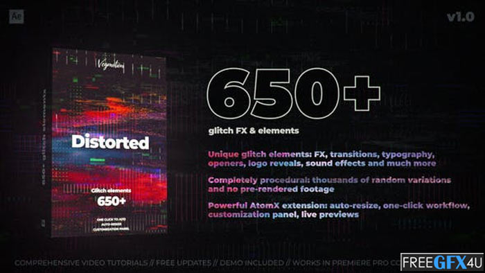 650+ Glitch Pack After Effects Project