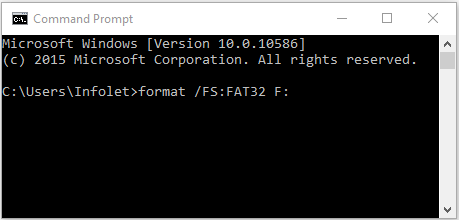 FAT32 Format using command prompt