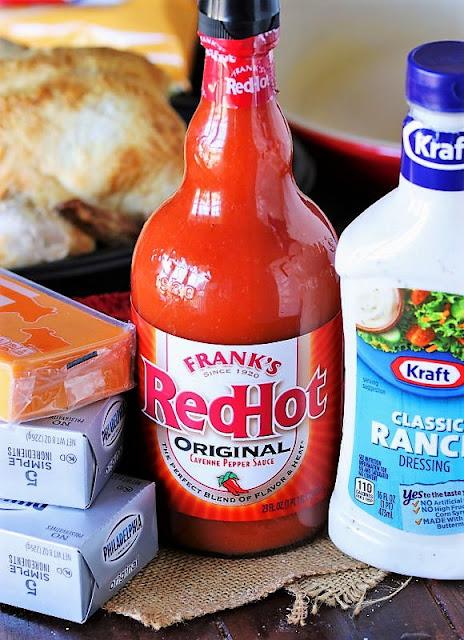 Buffalo Chicken Dip Ingredients Image