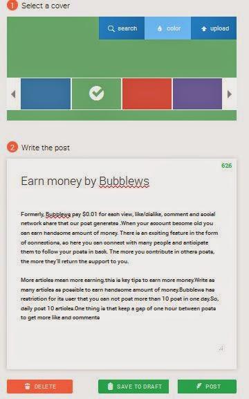 Bubblews Great Money Making Site ~ Make Money Online Easy