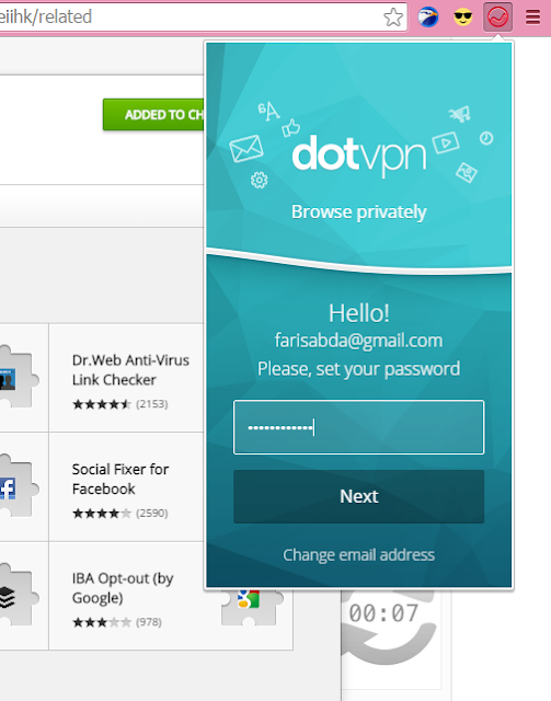 إضافة DotVPN للحصول على VPN مجاني وتغيير ip address