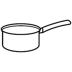 colorear utensilios dibujos cocina cazos cacerola cazo dibujo chocolate menta olla comida recursos infantil pintar mas educacion embroidery