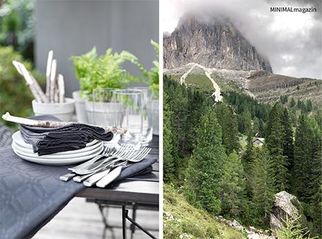 DIY - Tischdekoration mit Naturmaterialen - der Urlaub in den Dolomieten inspiriert.