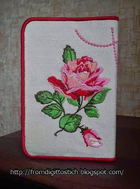 вышитая роза