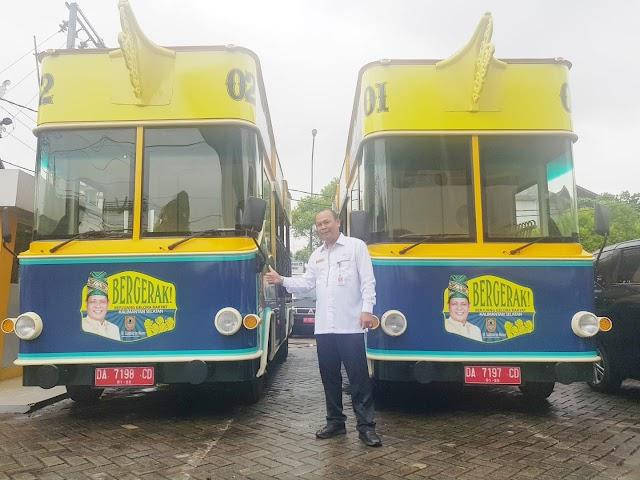 """Momen HPN 2020, Pemprov Kalsel Launching Bus Wisata """"Bergerak"""""""