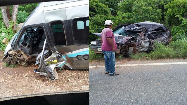 Colisão entre Fiat e Topic deixa pelo menos um morto na madrugada de hoje no município de Assaré