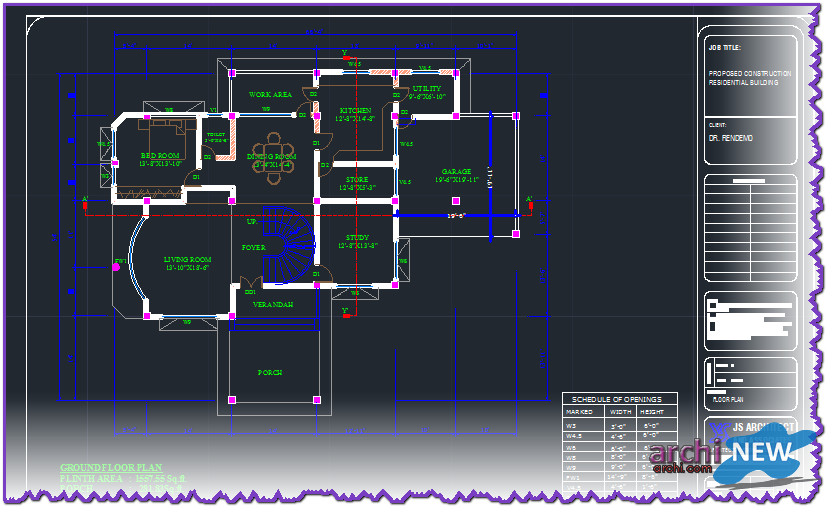 Download autocad dwg file to good home villa 7 archi new for House cad file
