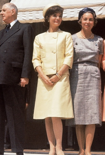 Jackie Kennedy Whitehouse gold suit