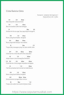 chord cinta karena cinta penyanyi judika