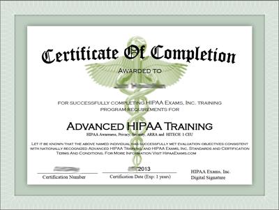 Hipaa Training Certificate Template Costumepartyrun