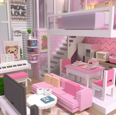 Pink Voxel Kitchen