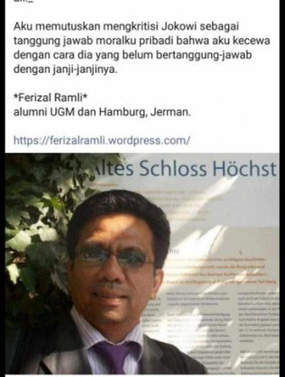 "Alumni UGM soal Jokowi: Aku Kecewa Secara Nyata, ""I don't trust him anymore!"""