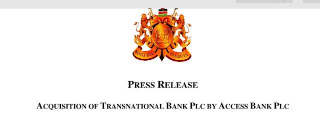 CBK press release