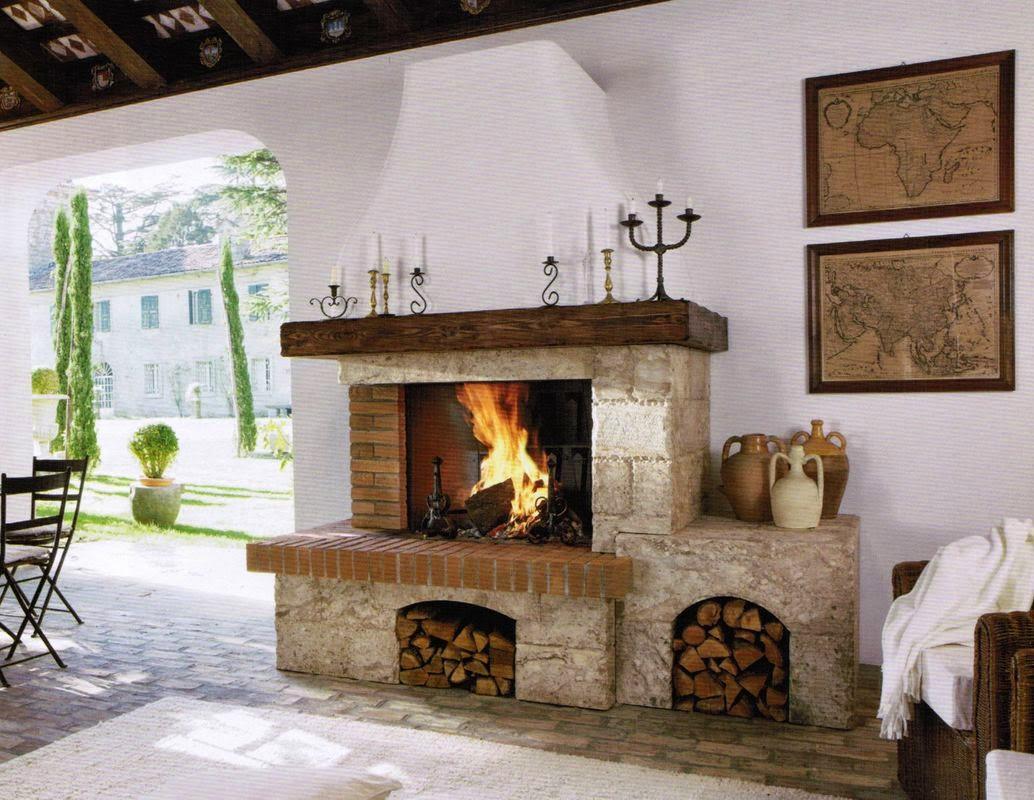 Immagini caminetti rustici for Camini rivestiti in pietra immagini