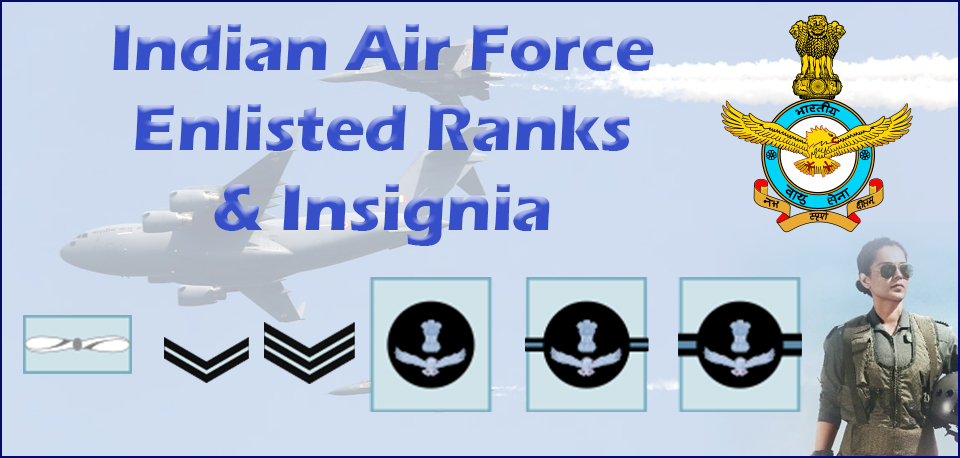 Indian Air Force Ranks and Insignia | IAF Ranks Insignia Badges