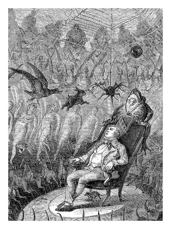 a A Yan Dargent illustration of hallucinegenic drug use 1878