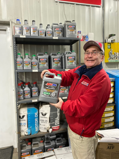 Charlie with Amsoil OE Motor Oil SAE 0W20