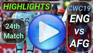 Eng vs Afg 24th Match