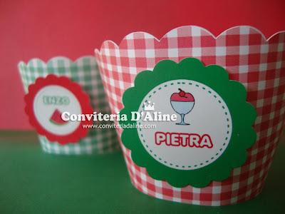 decoração festa picnic wrappers personalizados