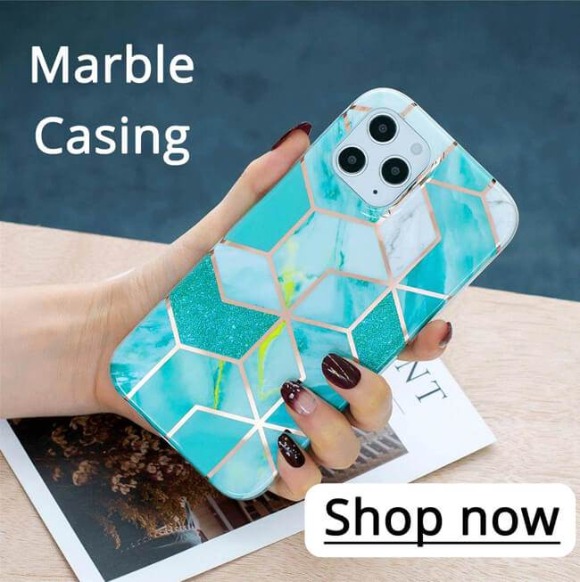 #Marble Pattern Galvanized #Electroplating Protective Case Cover