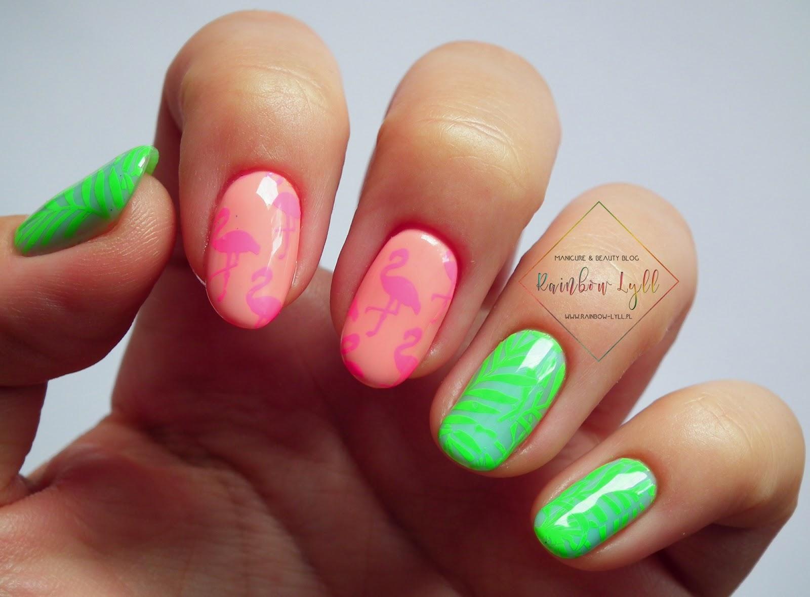 Iliz Beauty Rozowe Flamingi Zielone Liscie Czyli Pastelowo