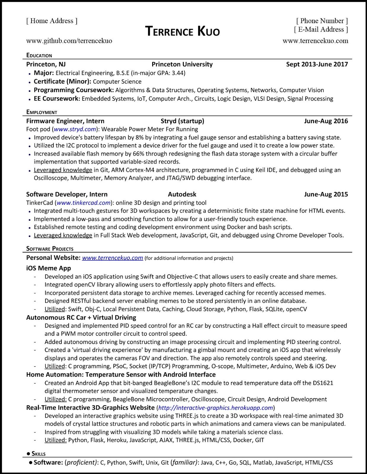 Software Engineer Cv Templates 2019 Free Resume Templates