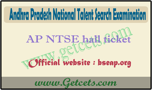 AP NTSE hall ticket 2021 download @bseap.org for ntse exam