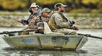 Sport fishing in Ushuaia, Argentina.
