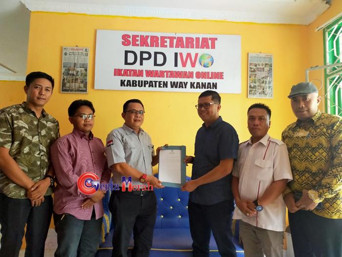 KPU – IWO Waykanan Siap Bersinergi Dalam Sukseskan Pilkada