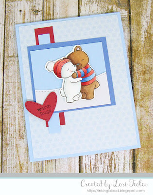 Warm Hugs card-designed by Lori Tecler/Inking Aloud-stamps from Mama Elephant