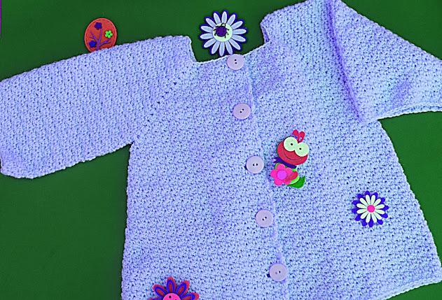 8 - Crochet Imagenes Abrigo rosa a crocher y ganchillo muy fácil y sencillo , lindo por Majovel Crochet