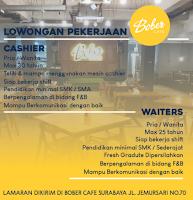 Lowongan Kerja di Bober Cafe Surabaya Juni 2021