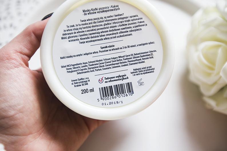 Anwen Maska do włosów wysokoporowatych Kiełki Pszenicy & Kakao