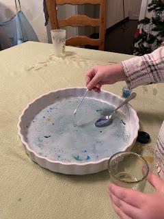 Réalisation de l'expérience un nuage de couleurs