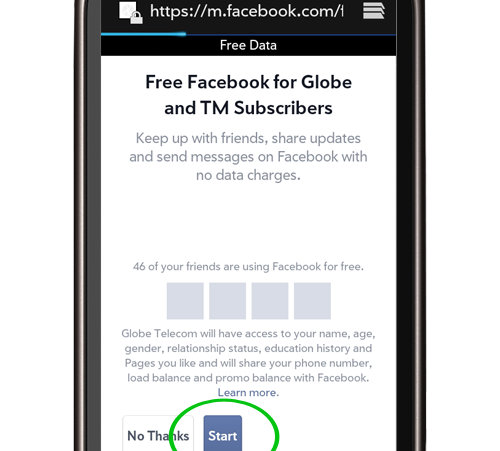 How to Use Facebook For Free Using Globe or TM [Extended