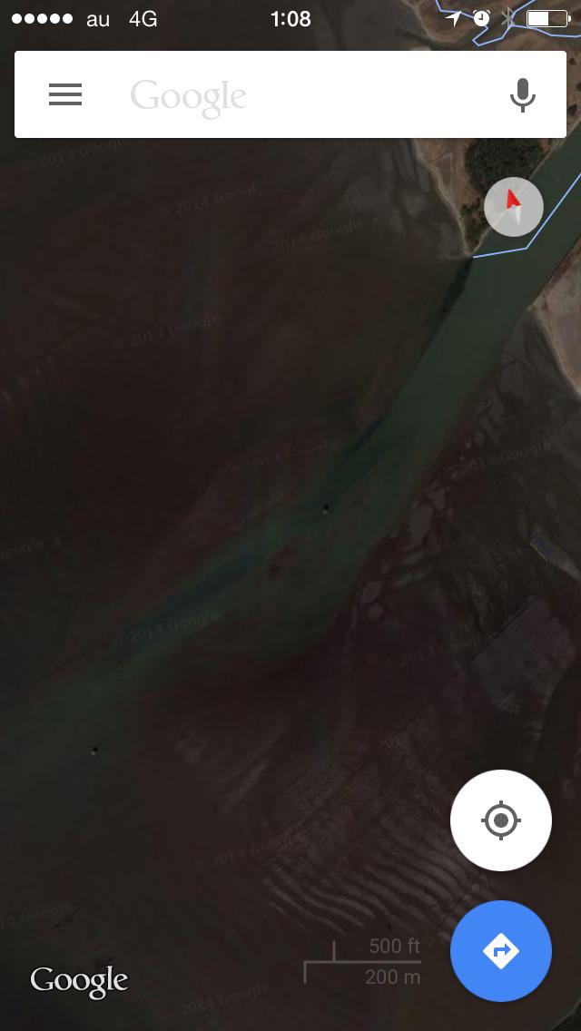 シーバス ウェーディング GoogleMap