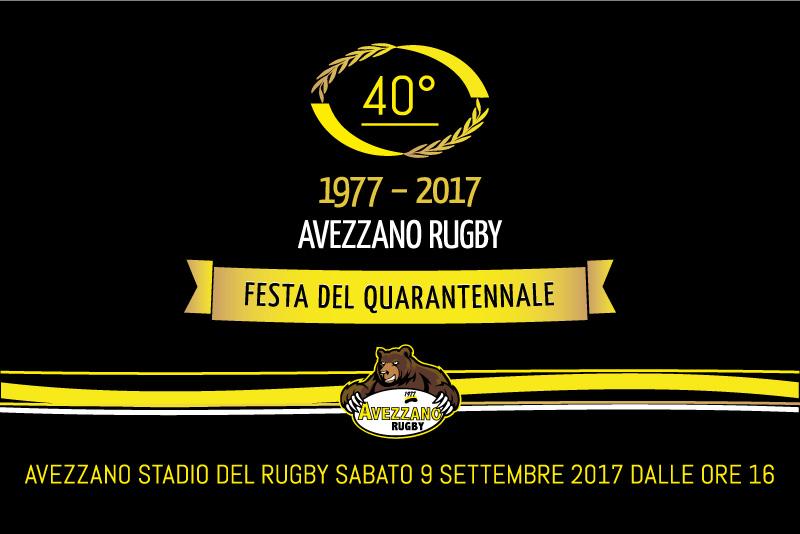Rugby - invito Festa del Quarantennale